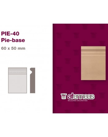 PIE BASE MDF CRUDO PIE-40...