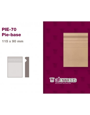PIE BASE MDF CRUDO PIE-70...