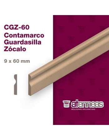 ZOCALO CONTRAMARCO GUARDASILLA MDF CRUDO CGZ60 2,60mts pack x 6