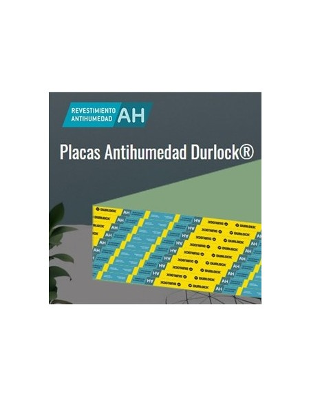 PLACA ANTIHUMEDAD DURLOCK 12,5mm 1,20x2,60mts