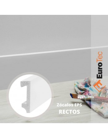 ZOCALO PVC BLANCO RECTO...