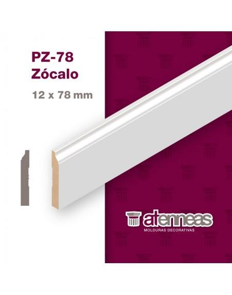 Zócalo Prepintado Blanco Atenneas PZ 78 x 2,75mts